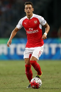 Mesut Ozil in action for Arsenal.
